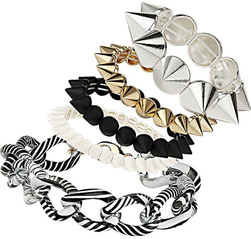 Spike Curb Chain Bracelet Pack