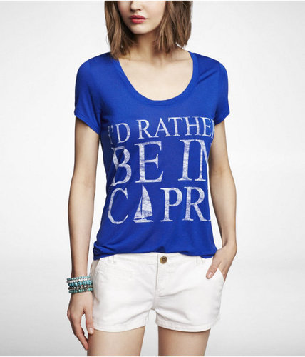 Luxe Dolman Graphic Tee - Rather Be In Capri