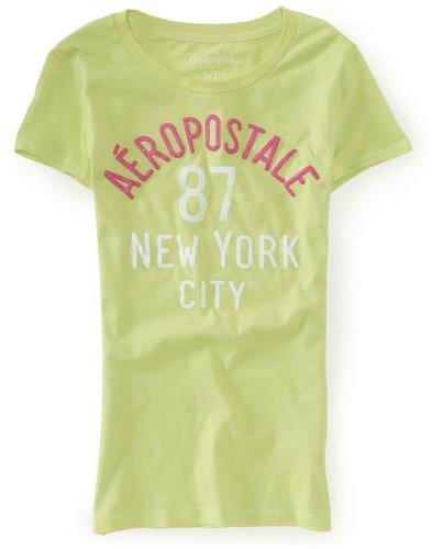 Aero 87 NYC Glitter Graphic T
