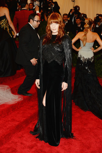 Florence Welch covered up in a Givenchy Couture by Riccardo Tisci gown from the house's Fall 2012 collection.