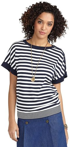 Striped Square Sleeve Sweater