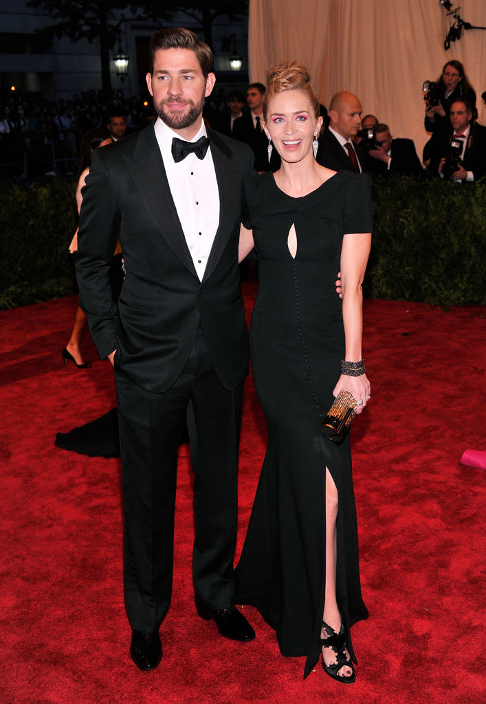 John Krasinski and Emily Blunt made a glamorous red carpet couple.