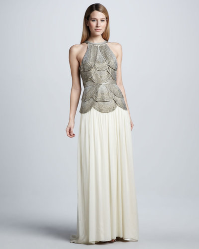 Catherine Deane Tiered-Bodice Combo Gown