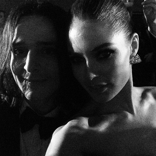 Doutzen Kroes snapped a photo of herself and her designer date, Olivier Theyskens. Source: Instagram user doutzenkroes1