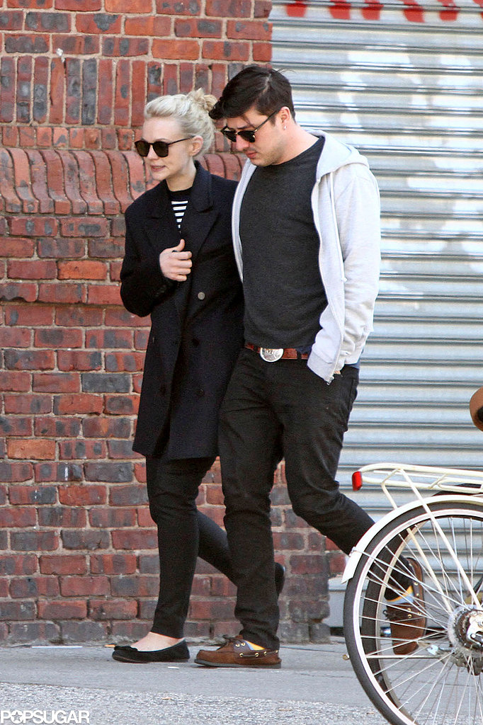 Carey Mulligan went for a city stroll with Marcus Mumford.