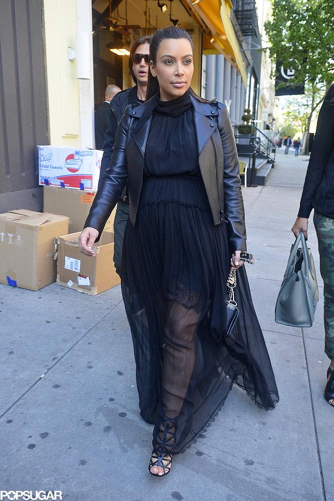 Kim Kardashian walked through NYC.