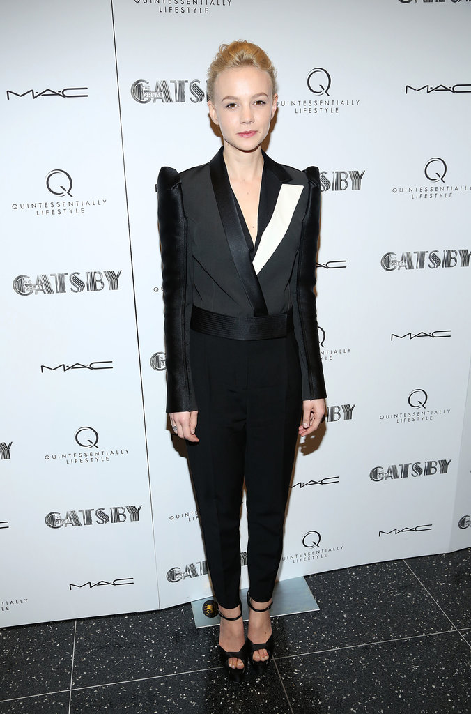 Carey Mulligan in a Lanvin Tuxedo at the 2013 The Great Gatsby Pre-Met Ball Screening