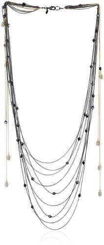 "ABS By Allen Schwartz ""Dramatic Romance"" Hematite-Tone Multi  Necklace"