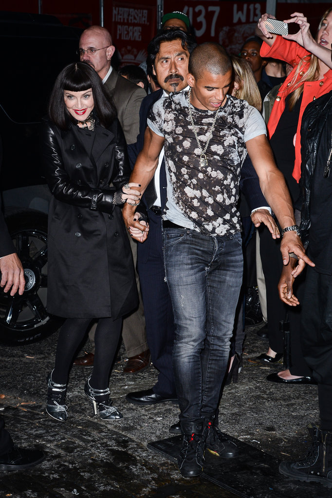 Brahim Zaibat led Madonna into the afterparty.