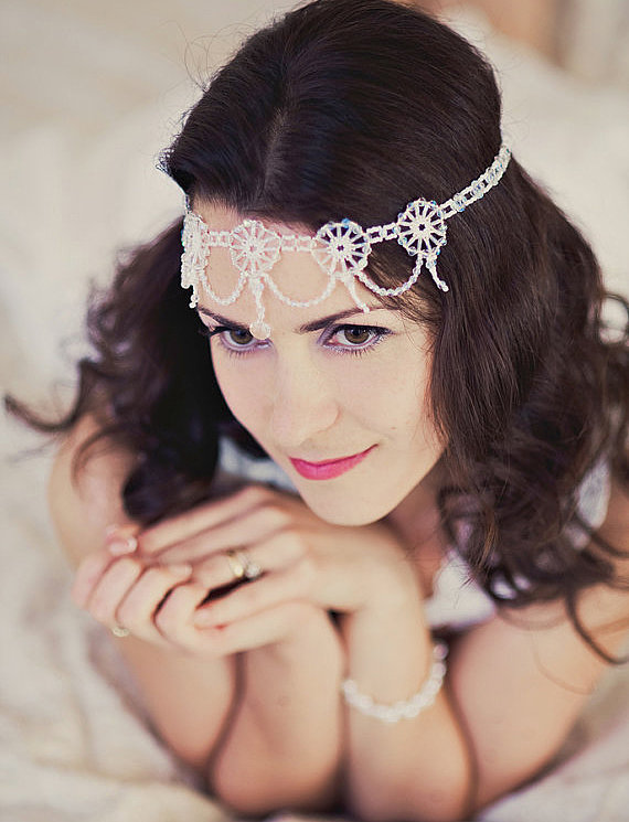 Channel your inner Daisy Buchanan with a 1920s-inspired headpiece ($104).