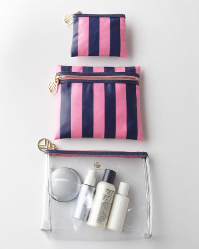 Kelly Stripe Travel Pouch Set