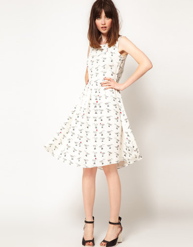 The Rodnik Band Dress with Seagul Print