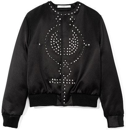 Givenchy Embellished Satin Duchesse Bomber