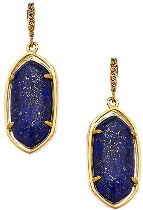 Carolee Lapis Cast Drop Earrings