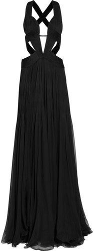 Roberto Cavalli Cutout silk-chiffon gown