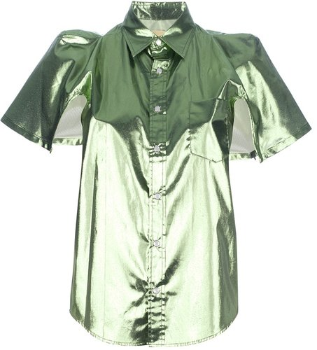 Toga lamé short sleeved shirt