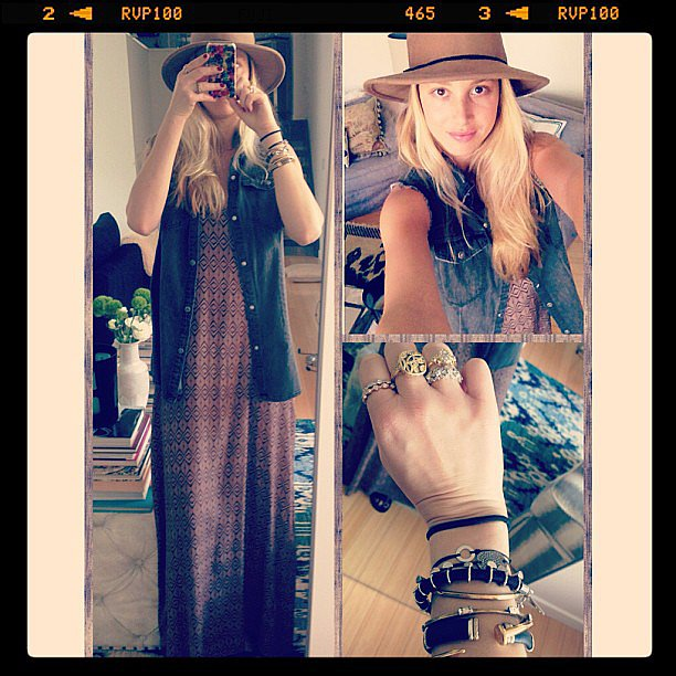 Whitney Port showed off her boho-chic daytime look. Source: Instagram user whitneyeveport