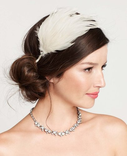 Embellished Feather Headband