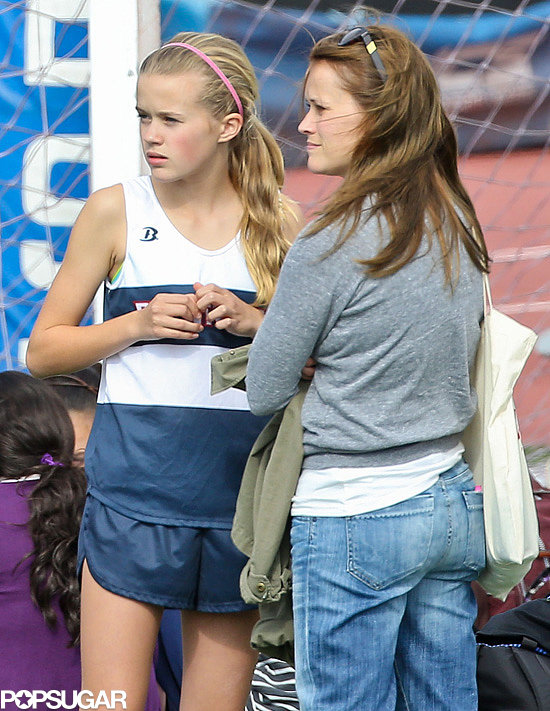 Reese Witherspoon hung out with her daughter, Ava, after her track meet in LA.