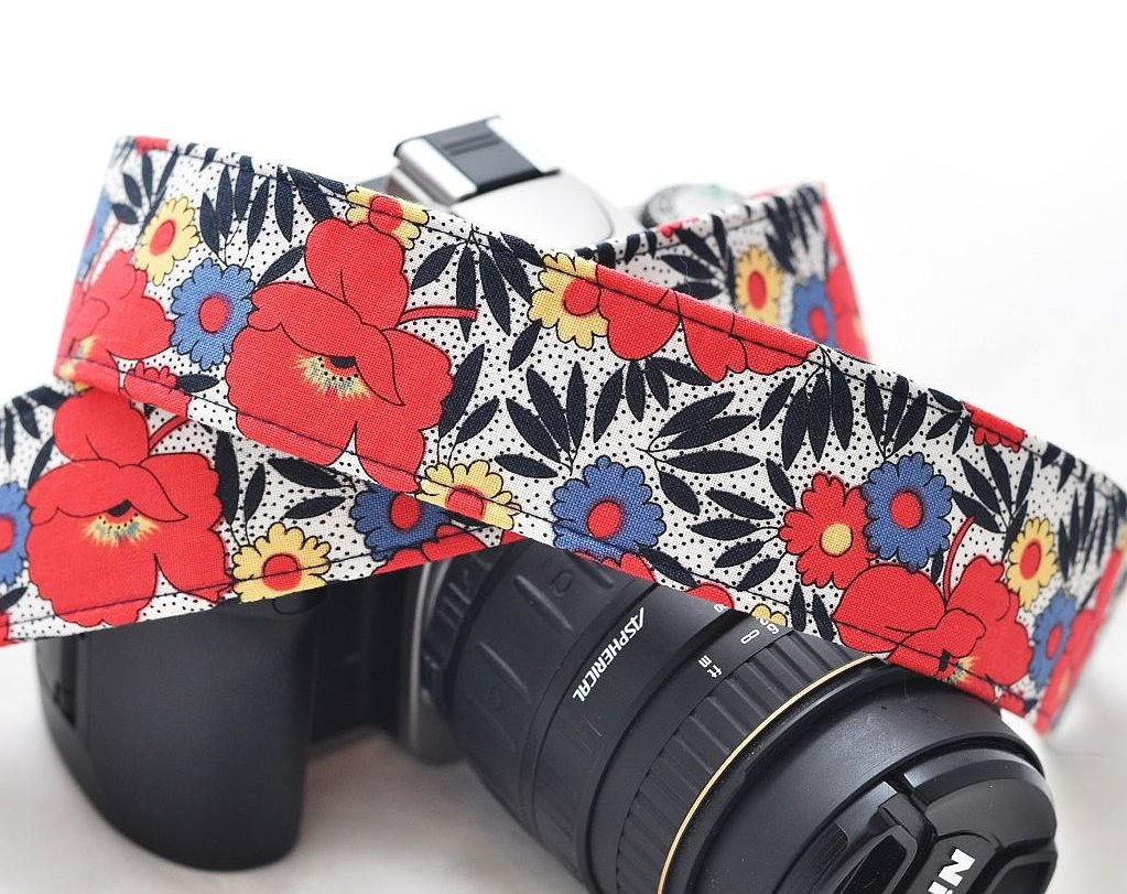 Tropical Floral Camera Strap