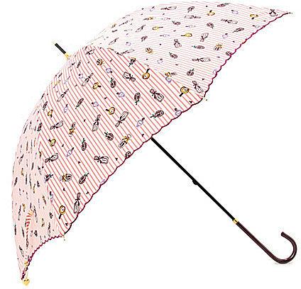 [GROVE]コスメストライププリント長傘