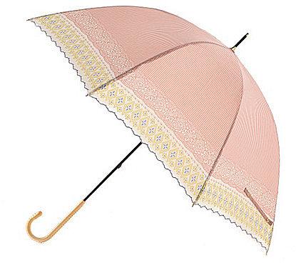 [SOUP]フラワー&ストライププリント晴雨兼用長傘