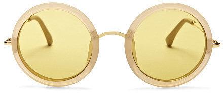 The Row Round Yellow Sunglasses