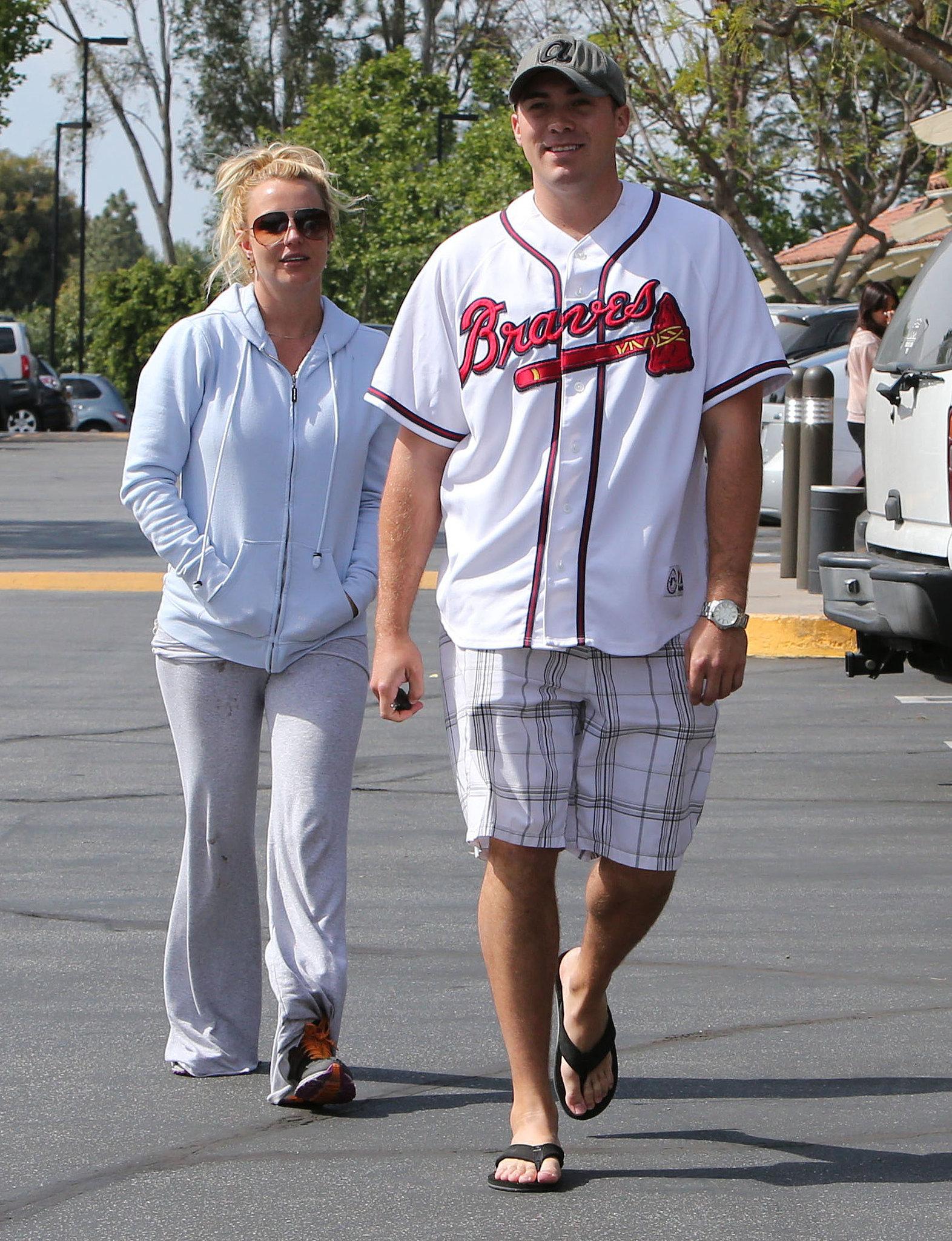 Britney Spears ran errands with her new boyfriend, David Lucado.