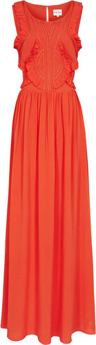 Loulou Maxi RUFFLE DETAIL MAXI DRESS