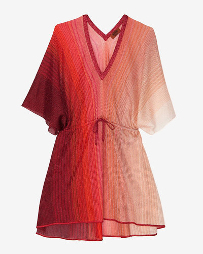 Missoni Mare Missoni Swim Drawstring Caftan: Red