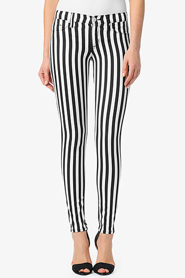 Krista Super Skinny- Black & White Stripes