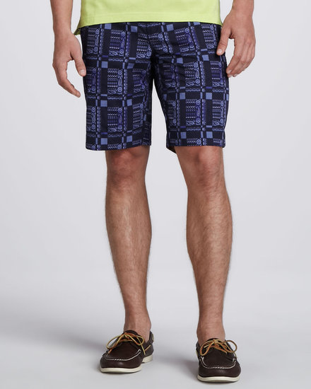 Robert Graham Six Sense Paisley Shorts, Blue