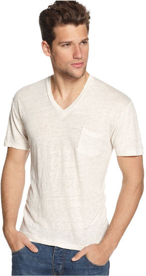 Alternative Apparel Shirt, Linen Jersey V-Neck T-Shirt