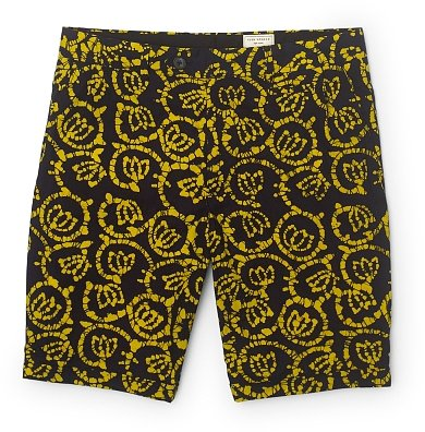 Maddox Yellow Print Short