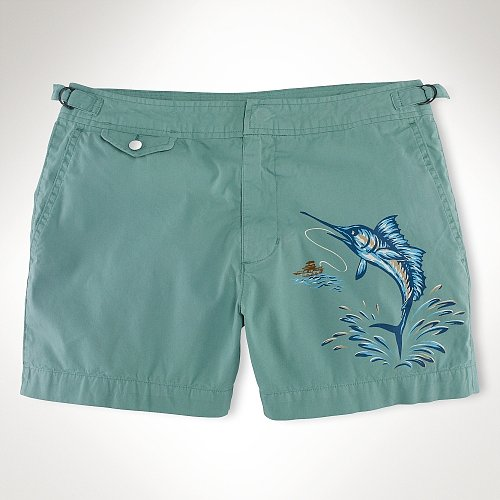 "Polo Ralph Lauren 41⁄2"" Venice Fish Swim Trunk"