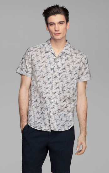 Ludwyk Banyan Print Cotton Shirt