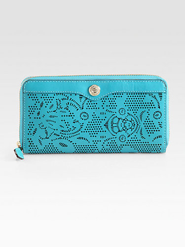 Rebecca Minkoff Luma Large Zip-Around Laser Cut Bridle Wallet
