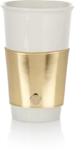 Jimmy Choo Rika mirrored-leather coffee cup sleeve