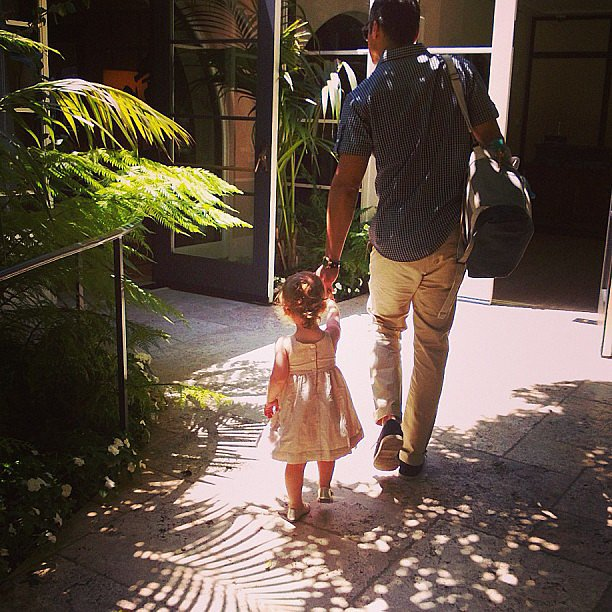 Jessica Alba shared a sweet picture of her husband, Cash Warren, walking with their daughter Haven on Mother's Day. Source: Instagram user jessicaalba