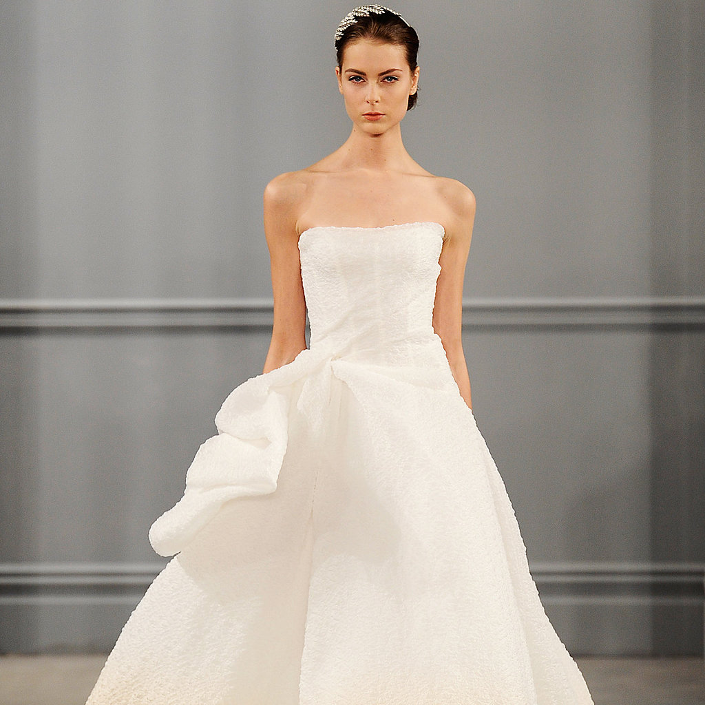 Top wedding dress trends at spring 2014 bridal fashion for Current wedding dress trends