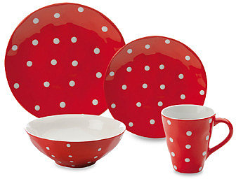 Sprinkle Collection Red Dinnerware