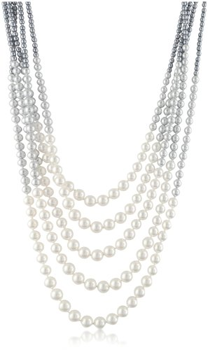 AZ Collection Multi-Strand Long Bead Necklace