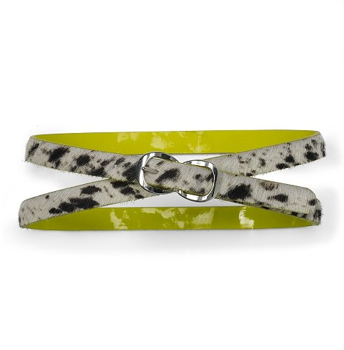 Ava Printed Haircalf Belt