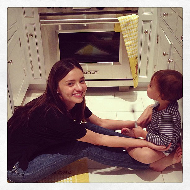 Miranda Kerr shared this cute candid of herself with her ...