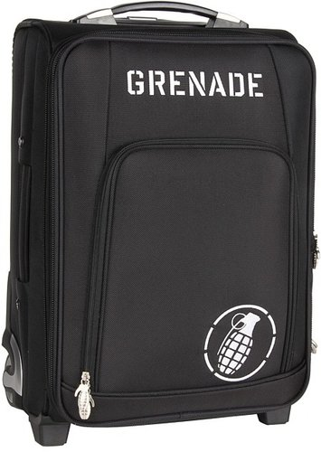 Grenade - Roller Bag (Black/White) - Bags and Luggage