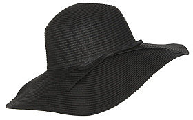 WetSeal Bow Wrap Floppy Hat Black