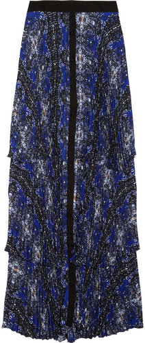 A.L.C. Eden abstract-print pleated maxi skirt