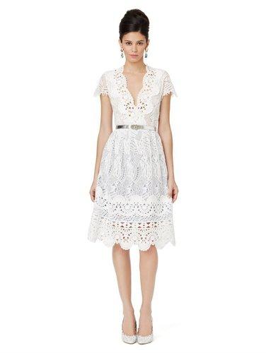 Sleeveless V-Neck Dress With Full Skirt