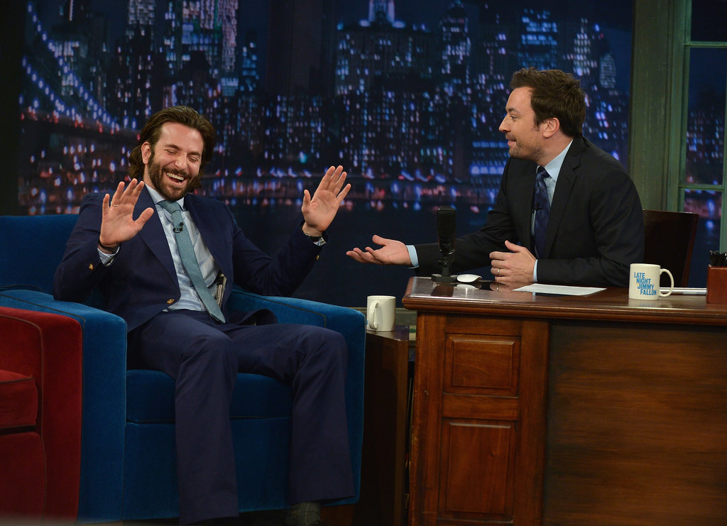 Bradley Cooper promoted The Hangover Part III on Late Night With Jimmy Fallon.