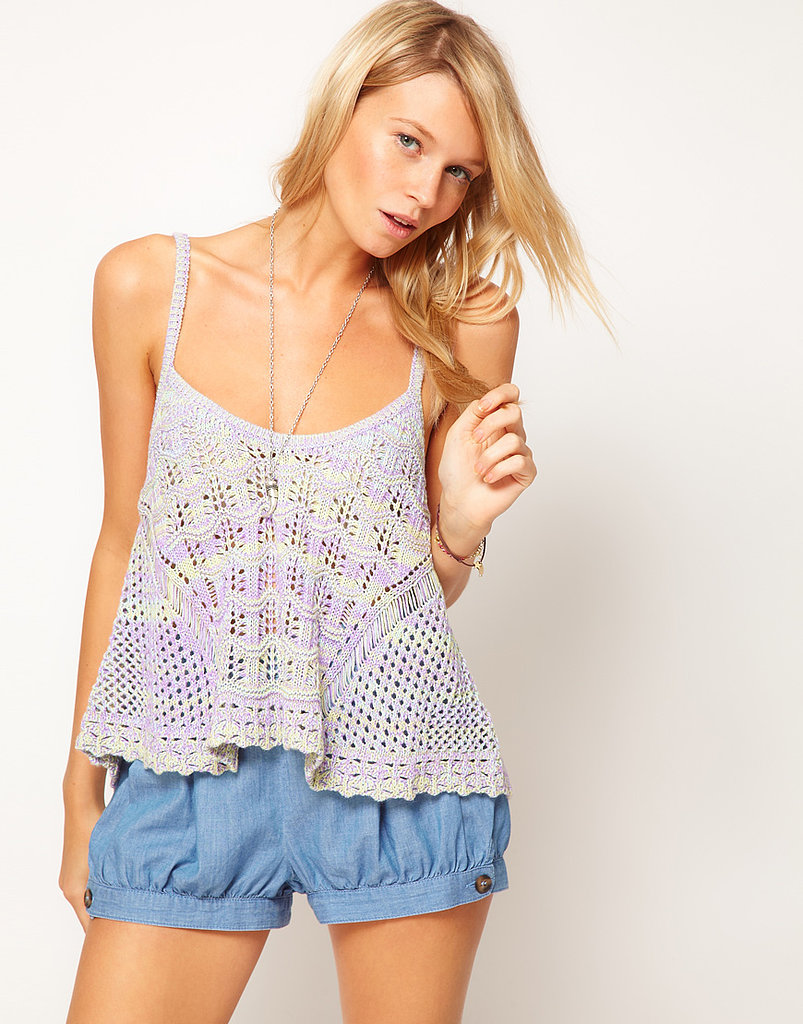 This ASOS Crochet Tank ($42) is ideal for music-festival season. Don't forget the sunscreen!